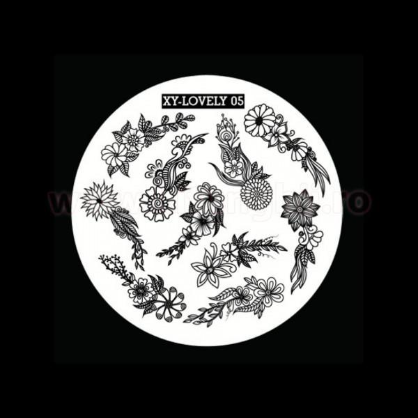 Poze Matrita Metalica Stampila Unghii XY-LOVELY05 - Nature