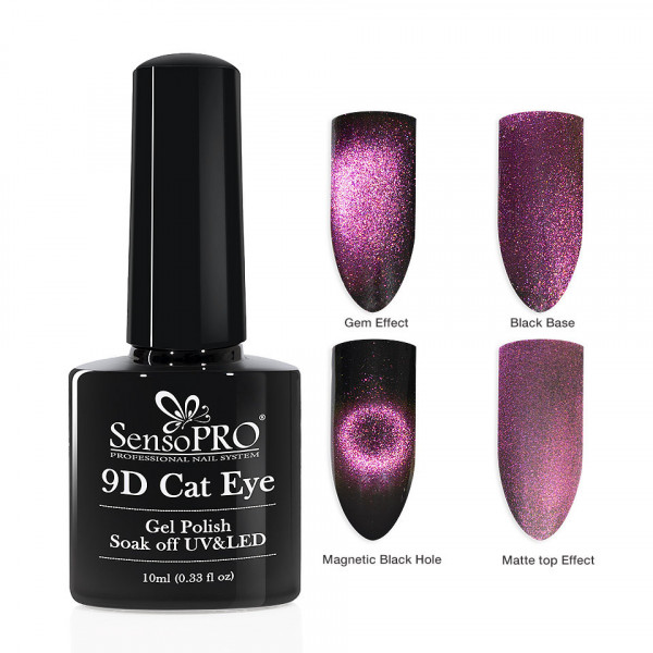 Poze Oja Semipermanenta 9D Cat Eye #10 Cephi - SensoPRO 10 ml