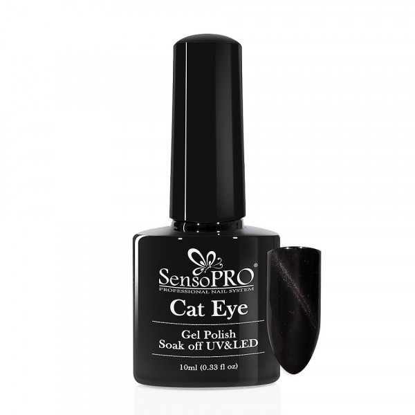 Poze Oja Semipermanenta Cat Eye SensoPRO 10ml - #010 Black Panther