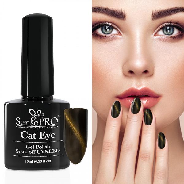 Poze Oja Semipermanenta Cat Eye SensoPRO 10ml - #034 Gold Dust