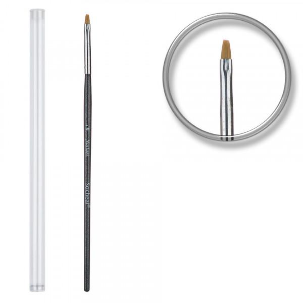 Poze Pensula unghii aplicare gel UV nr.1 cu etui tubular - Zafre Black