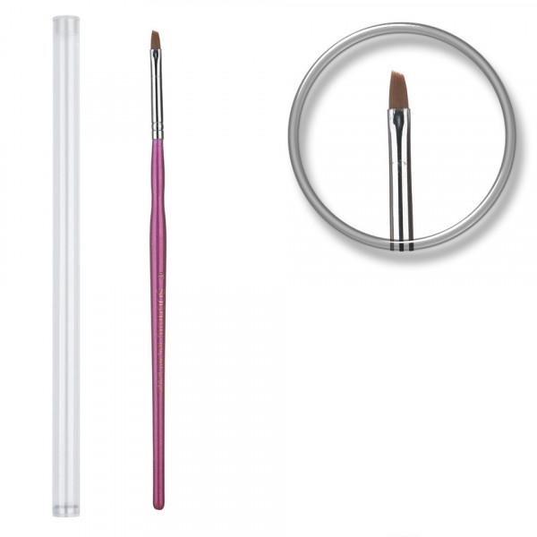 Poze Pensula unghii aplicare gel UV nr.3 cu etui tubular - Orchid