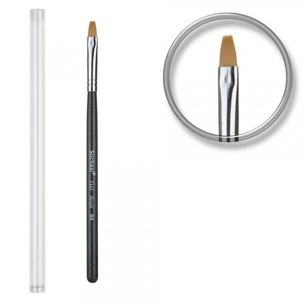 Poze Pensula unghii aplicare gel UV nr.8 cu etui tubular - Black Sky