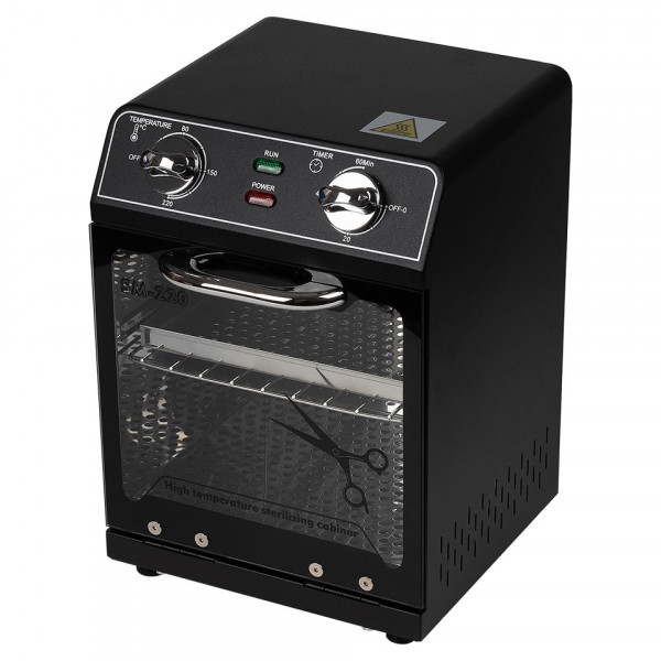 Poze Sterilizator cu Aer Cald instrumente manichiura Negru / saloane SM-220