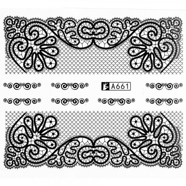 Poze Tatuaj unghii A661 lace