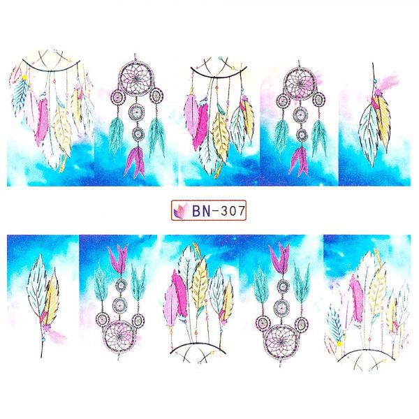 Poze Tatuaj unghii LUXORISE, Dream Catcher BN-307