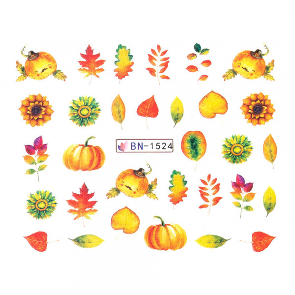 Poze Tatuaj unghii SensoPRO Autumn Challenge, model BN-1524
