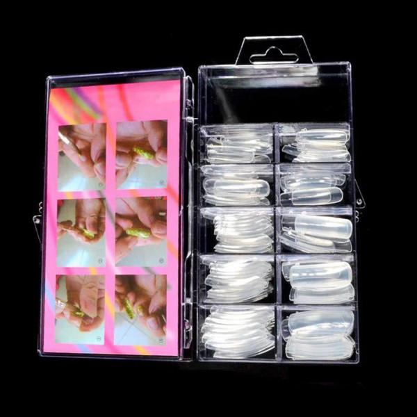 Poze Tipsuri polygel - Forme refolosibile Popits Dual Forms Fast Nails, 100 buc.