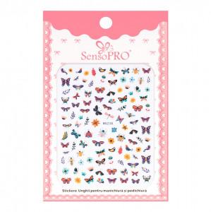 Abtibilduri unghii SensoPRO Magic Butterfly, model WG238
