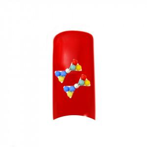 Decoratiuni Unghii 3D - Fundita culori multicolore set 2 bucati