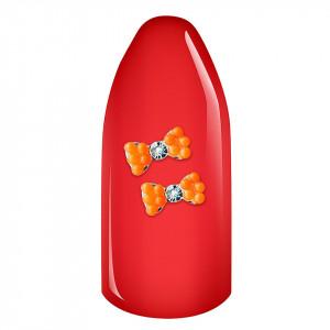 Decoratiuni Unghii 3D - Fundita portocaliu neon set 2 bucati