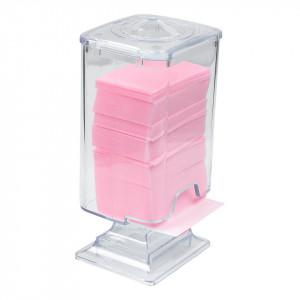 Dispenser servetele unghii din plexiglas cu capac, alb
