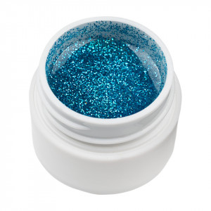 Gel UV Color cu Sclipici ENS PRO #002 - Blue Cloud