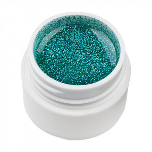 Gel UV Color cu Sclipici ENS PRO #003 - Green Ice