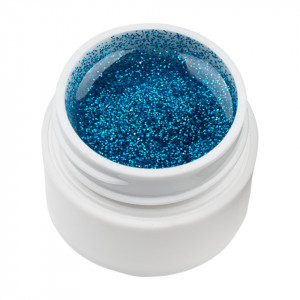 Gel UV Color cu Sclipici ENS PRO #019 - Blue Flame