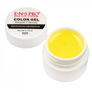 Gel UV Color cu Sclipici ENS PRO #020 - Sparkling Yellow