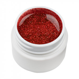 Gel UV Color cu Sclipici ENS PRO #031 - Red Hunt