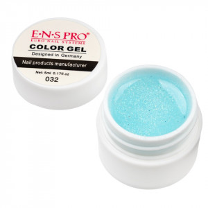 Gel UV Color cu Sclipici ENS PRO #032 - Natural Blue