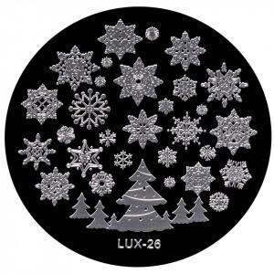 Matrita Metalica Stampila Unghii LUX-26 - Winter's Tale
