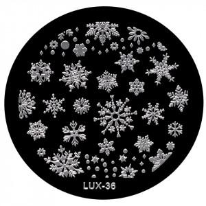 Matrita Metalica Stampila Unghii LUX-36 - Winter's Tale