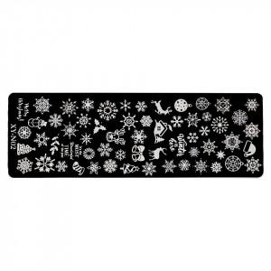 Matrita Metalica Stampila Unghii LUXORISE, Snowflake Tale