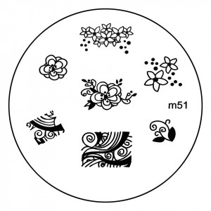 Matrita Metalica Stampila Unghii M51 - Nature