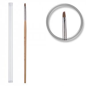 Pensula unghii aplicare gel UV nr.2 cu etui tubular - Dandelion