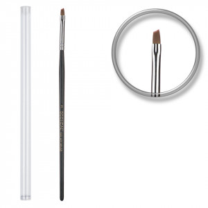 Pensula unghii aplicare gel UV nr.3 cu etui tubular - Smokey Black