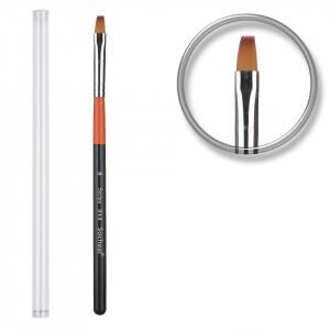 Pensula unghii aplicare gel UV nr.8 cu etui tubular - Ultra Orange