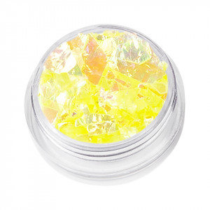 Sclipici Unghii Model Fulgi de Gheata - Sunny Yellow, 5 g
