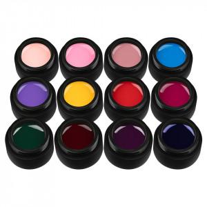 Set 12 Geluri UV Colorate Pure Colours Collection, SensoPRO Milano