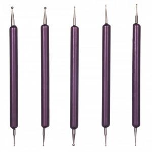 Set 5 Punctatoare pentru Unghii Purple Five, calitate premium