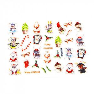 Tatuaj 3D Unghii LUXORISE Winter, Happy Christmas 830-34