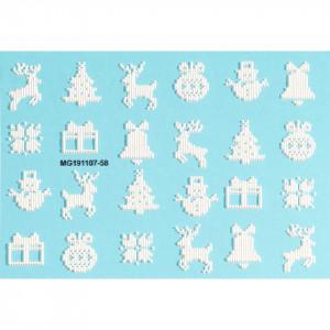 Tatuaj 3D Unghii LUXORISE Winter MG191107-58