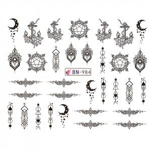Tatuaj unghii LUXORISE, Fantasy BN-984