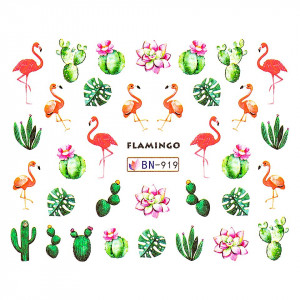 Tatuaj unghii LUXORISE, Flamingo BN-919