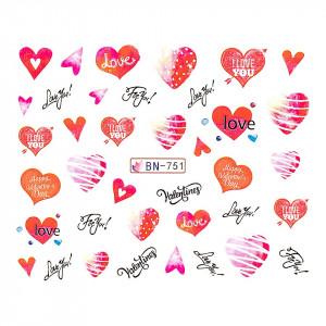 Tatuaj unghii LUXORISE, Love BN-751