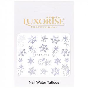 Tatuaj unghii LUXORISE, Winter STZ-Y12 argintiu