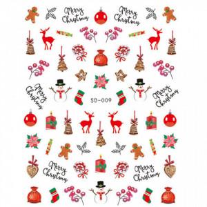 Abtibild unghii SD-009 Jingle Bells