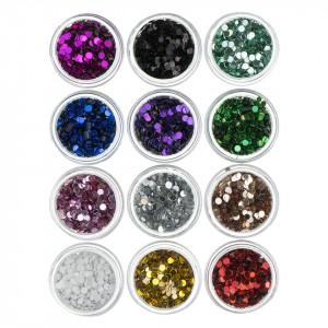 Confetti Unghii Circulare - Set 12 bucati