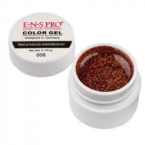 Gel UV Color cu Sclipici ENS PRO #006 - Martian Sun