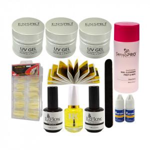 Kit Unghii False cu Gel UV ENS PRO Deluxe - Consumabile Promotie #31