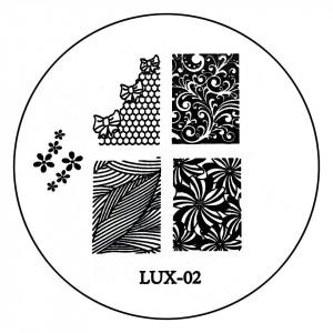 Matrita Metalica Stampila Unghii LUX-02 - Nature