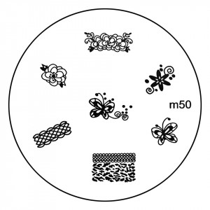 Matrita Metalica Stampila Unghii M50 - Nature