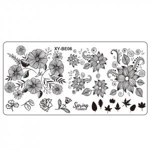 Matrita Metalica Stampila Unghii XY-BE06 - Nature