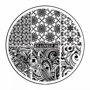 Matrita Metalica Stampila Unghii XY-LOVELY26 - Mandala