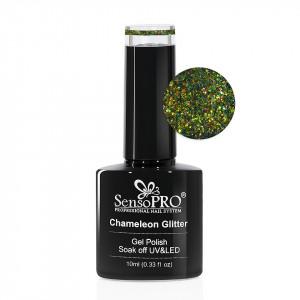 Oja Semipermanenta Cameleon Glitter SensoPRO 10ml - 002 Emerald Dreams