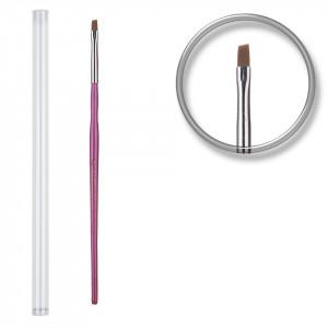 Pensula unghii aplicare gel UV nr.2 cu etui tubular - Pale Lavender