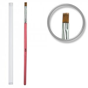 Pensula unghii aplicare gel UV nr.8 cu etui tubular - Cotton Candy