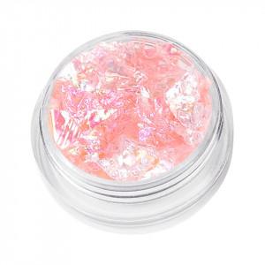 Sclipici Unghii Model Fulgi de Gheata - Soft Pink, 5 g